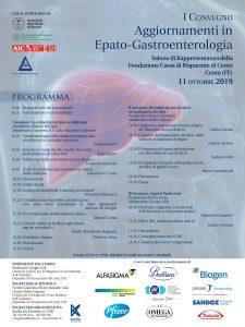 I° CONVEGNO: Argomenti di epato-gastroenterologia